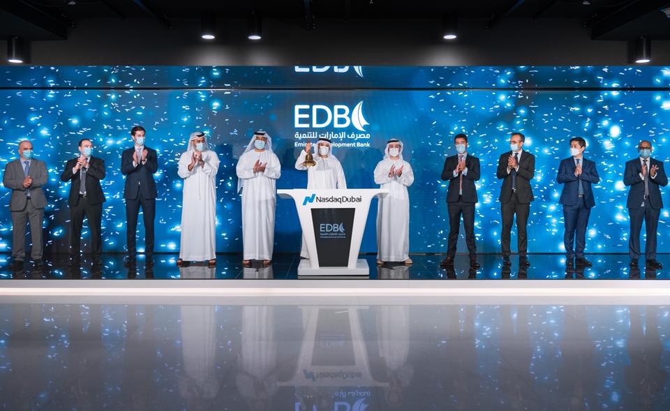 Emirates Development Bank rings Nasdaq Dubai's market-opening bell to celebrate US$ 750 million bond listing
